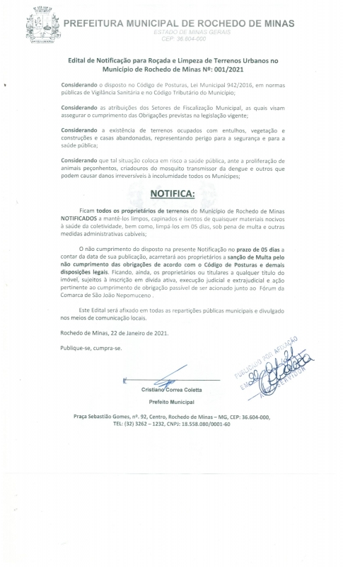 noticia notificacao-para-limpeza-de-terrenos